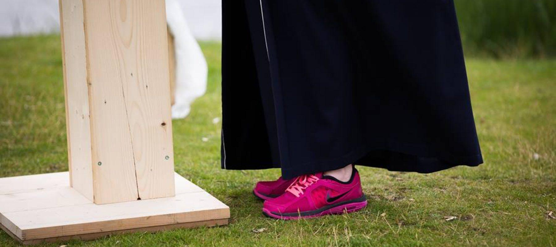 roze schoenen foto